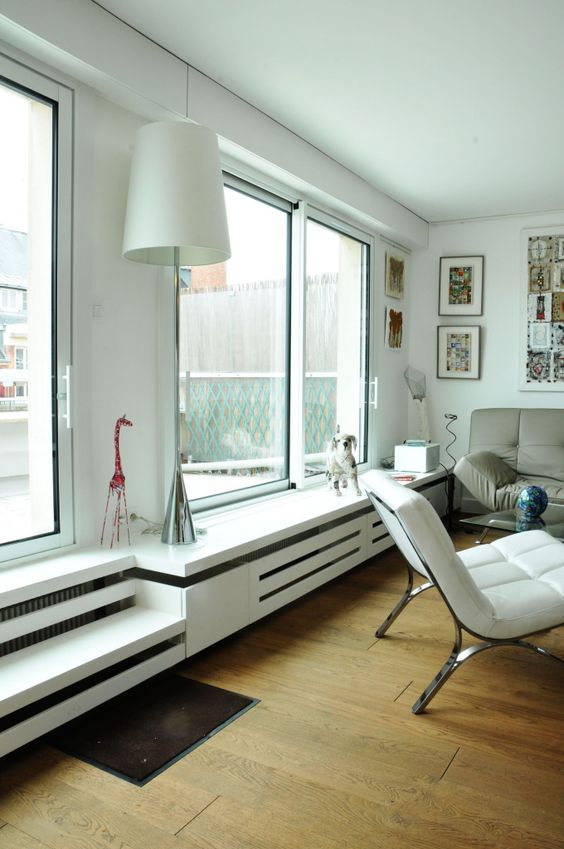radiator ombouw en vensterbank ineen